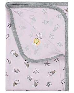 Baa Baa Sheepz: Single Layer Blanket Small Star & Sheepz (Pink) - 10% OFF!!
