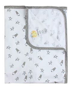 Baa Baa Sheepz: Single Layer Blanket Small Star & Sheepz (White) - 10% OFF!!