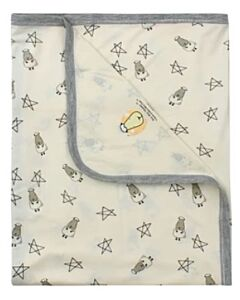 Baa Baa Sheepz: Single Layer Blanket Small Star & Sheepz (Yellow) - 10% OFF!!