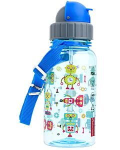 Autumnz: Flip Top Straw Bottle 17oz/500ml (9+ Months) - Sparky Robots - 10% OFF!!