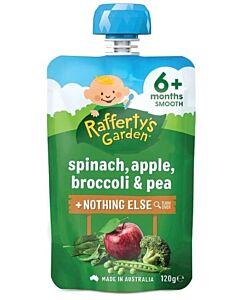 Rafferty's Garden: Spinach, Apple, Broccoli & Pea 120g (6+ Months) - 23% OFF!!