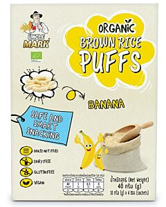Uncle Mark: Organic Sprouted Brown Rice Puff (10gm x 4's) - Banana - 11% OFF!!
