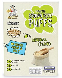 Uncle Mark: Organic Sprouted Brown Rice Puff (10gm x 4's) - Original Plain - 11% OFF!!
