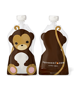 Squooshi: Large Food Storage Pouch (Monkey) 130ml - 20% OFF!!