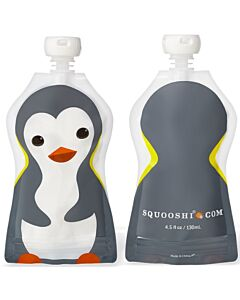 Squooshi: Large Food Storage Pouch (Penguin) 130ml - 20% OFF!!