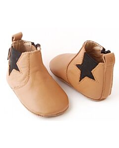 Bebebundo: Star Boots in Brown - Size 1 [11cm / 3 to 6 Months] - 16% OFF!!