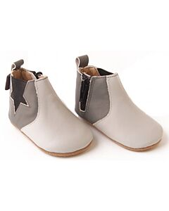 Bebebundo: Star Boots in Grey - Size 1 [11cm / 3 to 6 Months] - 16% OFF!!