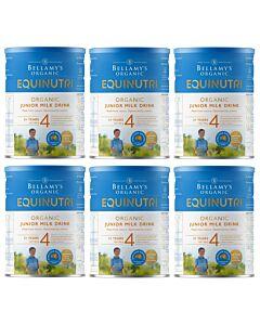 Bellamy's Organic Junior Milk Drink (Step 4) EQUINUTRI 900g x 6 TINS (Special combo deal) - 20% OFF!!