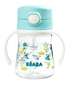 Beaba: Straw Cup 240ml (8+ Months) (Blue) - 20% OFF!!