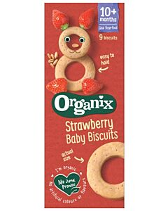 Organix Finger Foods Strawberry Baby Biscuits 54g (10+ Months)