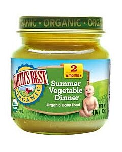 Earth's Best: Organic Summer Vegetable Dinner (Stage 2 - From 6 Months) 4oz - 17% OFF!