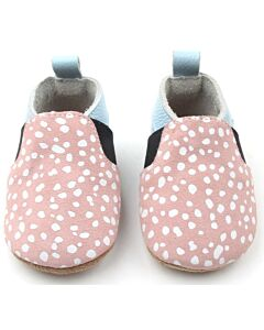 Bebebundo: Sunset Spots Shoes in Pink & Light Blue - Size 1 [11cm / 3 to 6 Months] - 16% OFF!!
