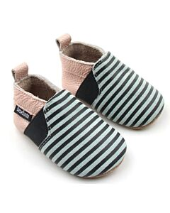 Bebebundo: Sunset Stripes Shoes in Multi - Size 1 [11cm / 3 to 6 Months] - 16% OFF!!