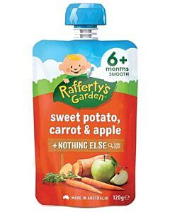 Rafferty's Garden: Sweet Potato, Carrot & Apple 120g (6+ Months) - 23% OFF!!