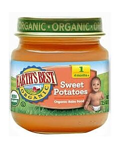 Earth's Best: Organic Sweet Potatoes (Stage 2 - From 6 Months) 4oz - 17% OFF!