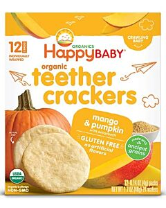 Happy Baby: Organic Teether Crackers - Mango & Pumpkin with Amaranth 48g (6 packs)