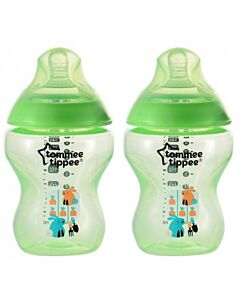 Tommee Tippee: Closer To Nature - Tinted Bottle 260ml / 9oz (BPA Free) - 2 Pack (Green) - 20% OFF!