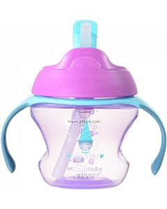 Tommee Tippee: First Straw Cup 150ml (9M+) - Pink - 26% OFF!