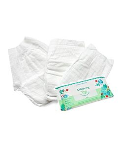 Offspring Trial Pack - Ultra Thin Tape Newborn 3pcs + Wipes 20s