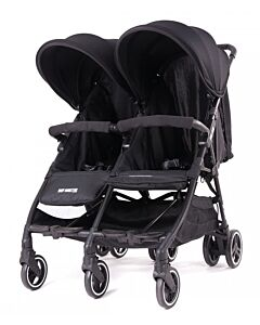 Baby Monsters | Kuki Twin Stroller (Birth to 15kg / each seat) - Black - 20% OFF!!