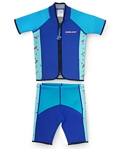 Cheekaaboo Twinwets Suit - Navy Blue / Surfer - L (4-6y) - 20% OFF!!