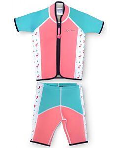 Cheekaaboo Twinwets Suit - Salmon Pink / Flamingo - L (4-6y) - 20% OFF!!