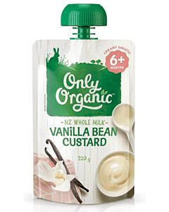 Only Organic: Vanilla Bean Custard 120g (6+ Months) - 10% OFF!!