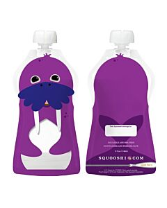 Squooshi: Large Food Storage Pouch (Walrus) 130ml - 20% OFF!!