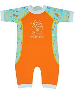 Cheekaaboo Warmiebabes Suit - Pumpkin Orange / Dino - M (12-18m) - 20% OFF!!
