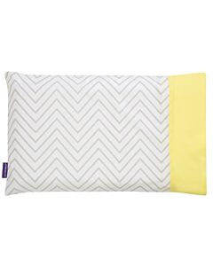 Clevamama ClevaFoam Baby Pillow Replacement Cover (41cm x 26cm) - White Chevron - 26% OFF!!