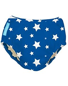 Charlie Banana: Reusable 2-in-1 Swim Diapers and Training Pants White Stars On Blue - M - 25% OFF!!