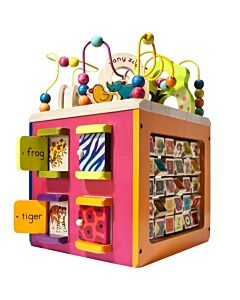 B.Toys: Battat B. Toys Zany Zoo Wooden Activity Cube - 20% OFF!!