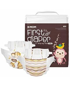 K-MOM First Diaper XL 22pcs (Up to 12kg) - 13% OFF!!