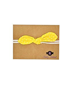 Baby Island Headband - Yellow Polka - 10% OFF!
