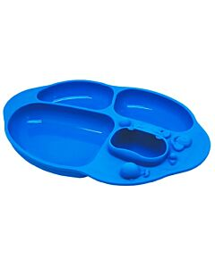 Marcus & Marcus | Yummy Dips Suction Divided Plate | Lucas (Hippo) - 10% OFF!!